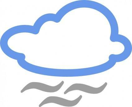 Cloudy Weather Symbols clip art