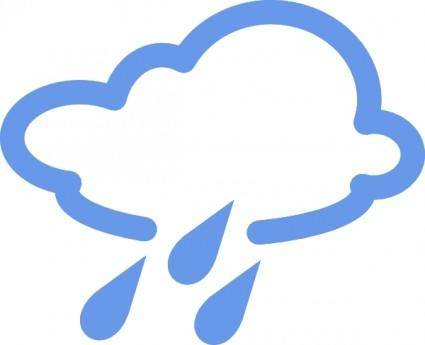 Rainy Weather Symbols clip art