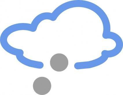 free vector Snow Weather Symbols clip art