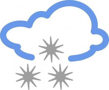 Hail Weather Symbols clip art