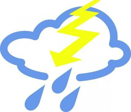 free vector Thunder Storms Weather Symbol clip art
