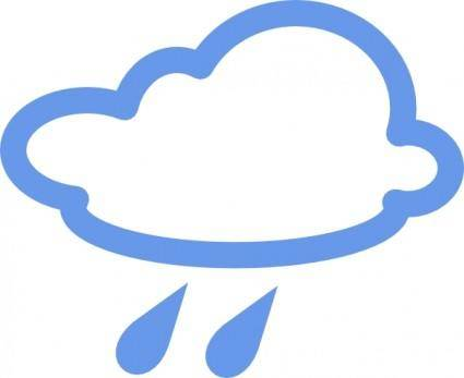 Rainy Weather Symbols clip art