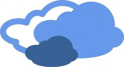 Heavy Clouds Weather Symbol clip art