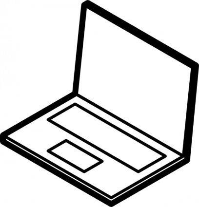 Laptop Outline clip art