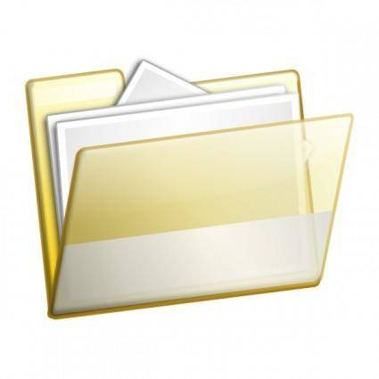 Simple Folder Documents clip art