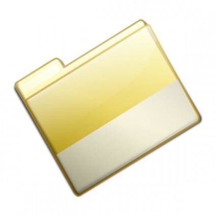 Closed Simple Yellow Folder clip art