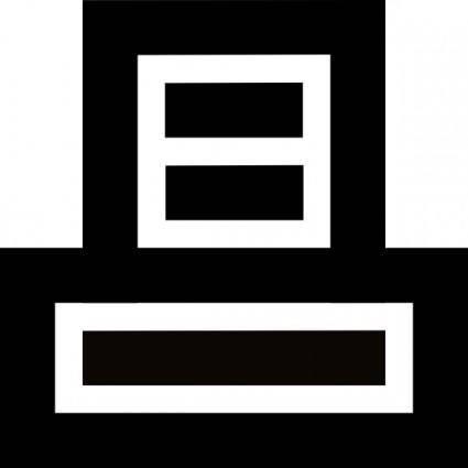 free vector Artmaster Printer Mini Icon clip art