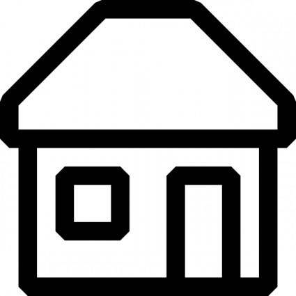 free vector Black And White House Icon clip art