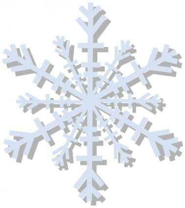 free vector Snow Flake clip art