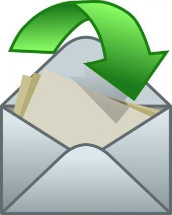 Envelope Close Arrow clip art