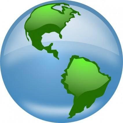 Glossy Globe clip art