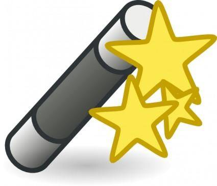Wand With Stars clip art