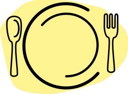 free vector Iammisc Dinner Plate With Spoon And Fork clip art