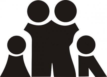 free vector Family Sign Symbol Black clip art