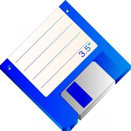 free vector Sabathius Floppy Disk Blue Labelled clip art