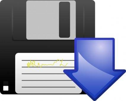 Floppy Disk Download Icon clip art