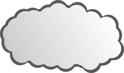 free vector Simple Cloud clip art