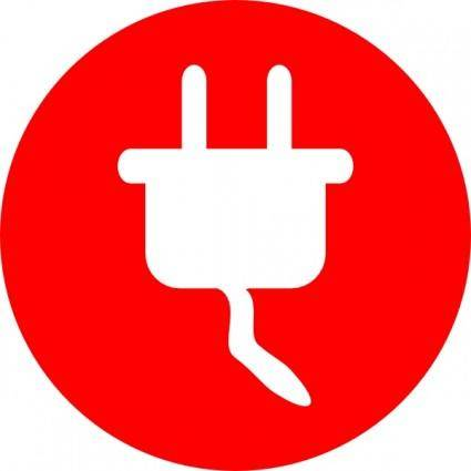 Electric Power Plug Icon clip art