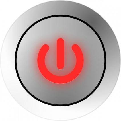 free vector Power Button States On Off clip art