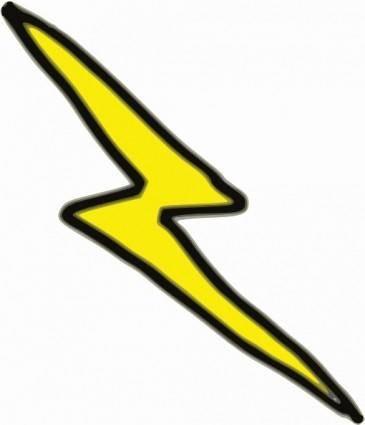 free vector Lnxwalt Cheap Lightning Bolt clip art