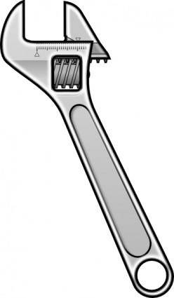 Method Adjustable Wrench Icon Style clip art