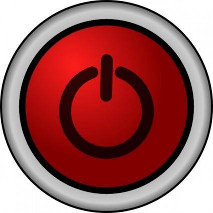 Tzeeniewheenie Power On Off Switch Red clip art