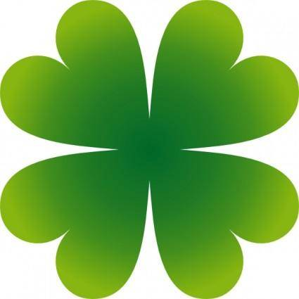 free vector Pierig Four Leaf Clover clip art