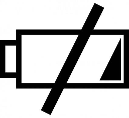 Low Battery Icon clip art
