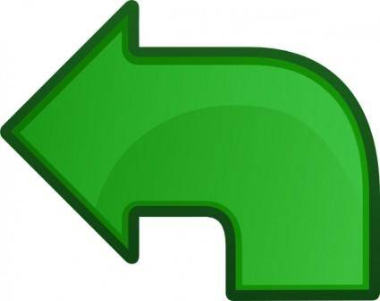 Arrow Go Left clip art