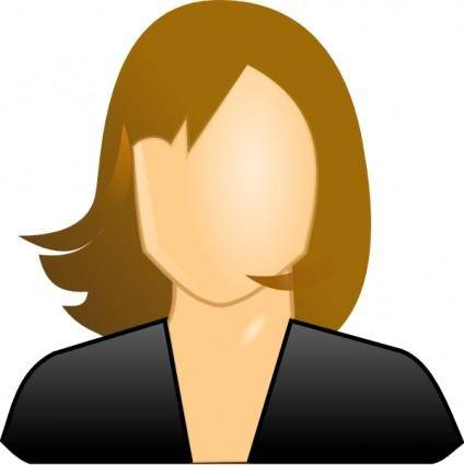 free vector Female User Icon clip art