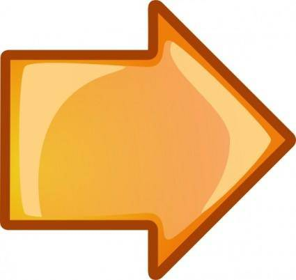 Arrow Orange Right clip art