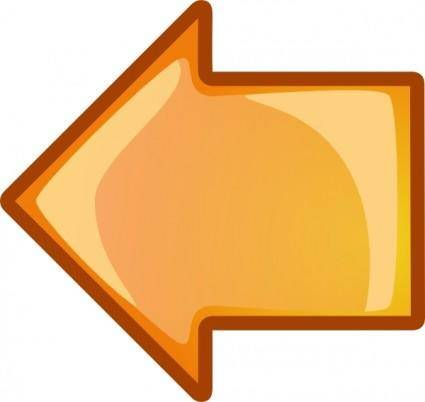 Arrow Orange Left clip art
