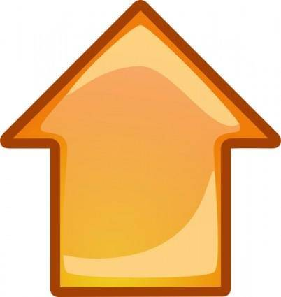 free vector Arrow Orange Up clip art