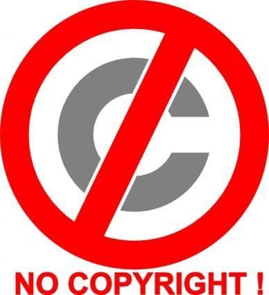 free vector No Copyright Icon clip art