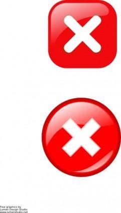 Error Icons clip art