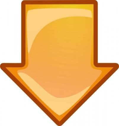 Arrow Orange Down clip art