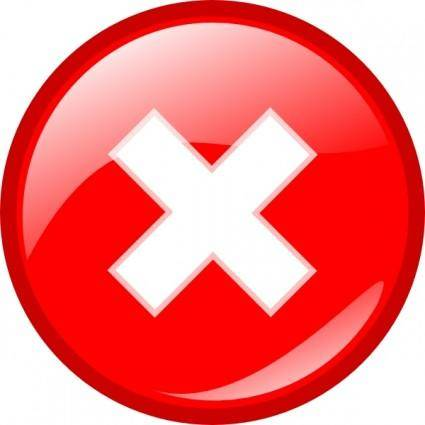 free vector Round Error Warning Button clip art