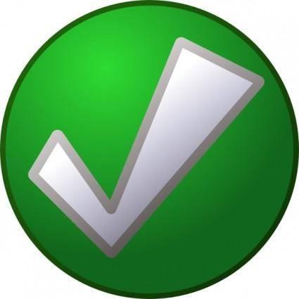 free vector Green Tick clip art