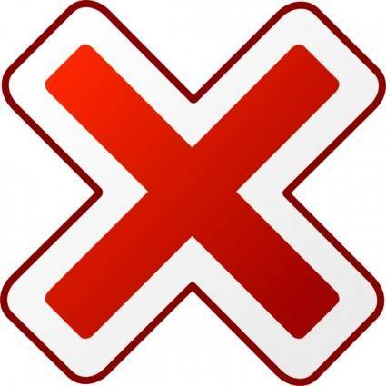 Cancel Icon clip art