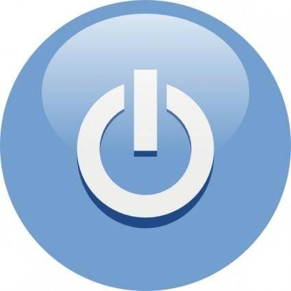 free vector Blue Power Button clip art