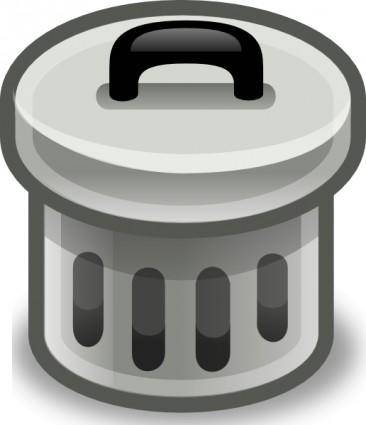Trash Can With Lid On clip art