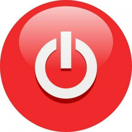 Red Power Button clip art