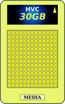 free vector Holographic Versatile Card clip art