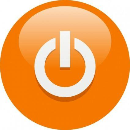 Orange Power Button clip art