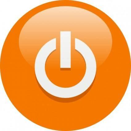 Orange Power Button clip art
