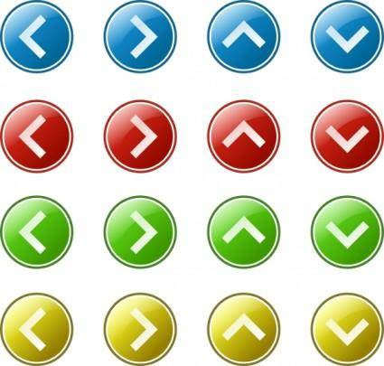 Arrow Button Set clip art