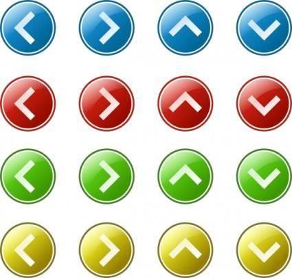 free vector Arrow Button Set clip art