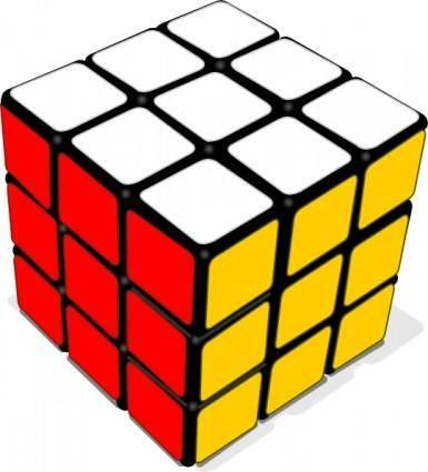 Rubik Cube Game clip art