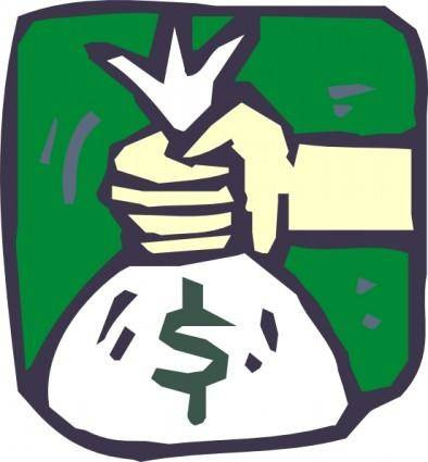 Money Bag Icon clip art