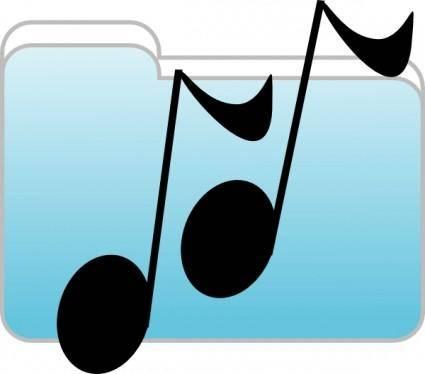 free vector Music Folder clip art